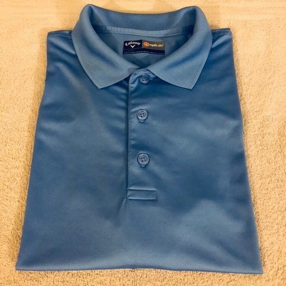 Callaway Other - Callaway Solid Blue Golf Polo Shirt size L